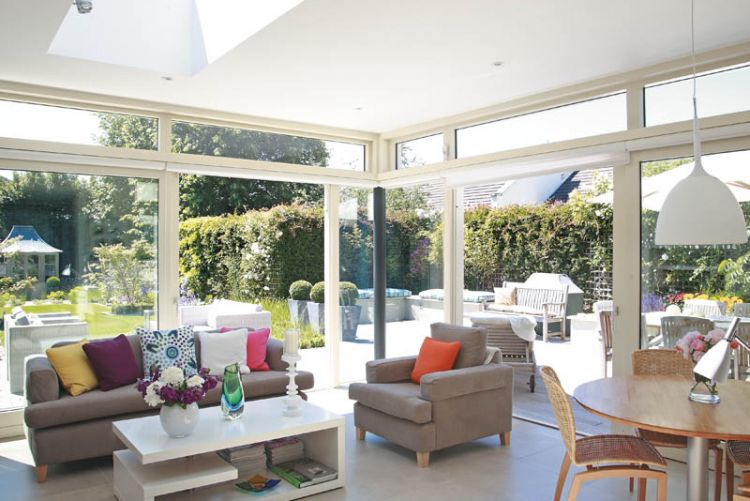 A garden room brings the outdoors in