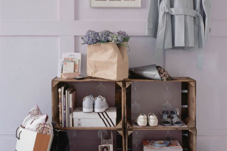 4 storage solution ideas for boxes, baskets, shelves and more!