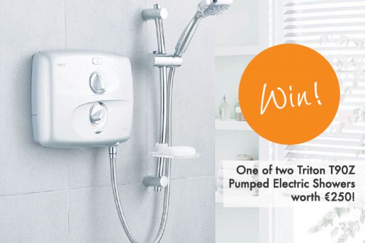 Win! One of two Triton T90Z Pumped Electric Showers worth €250!