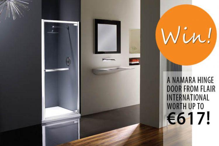 Win! A Stylish Namara Shower Door From Flair International Worth up to €617!