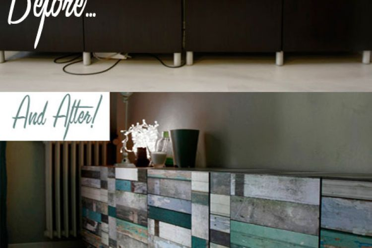 Create your own salvaged wood sideboard..