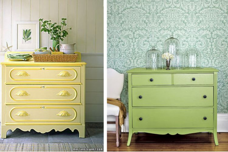 Give your furniture a makeover with some brightly-coloured paint..