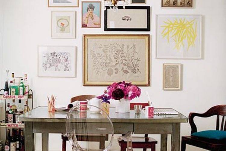 Create an eclectic gallery wall