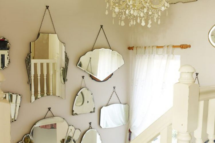 Create a vintage mirror display