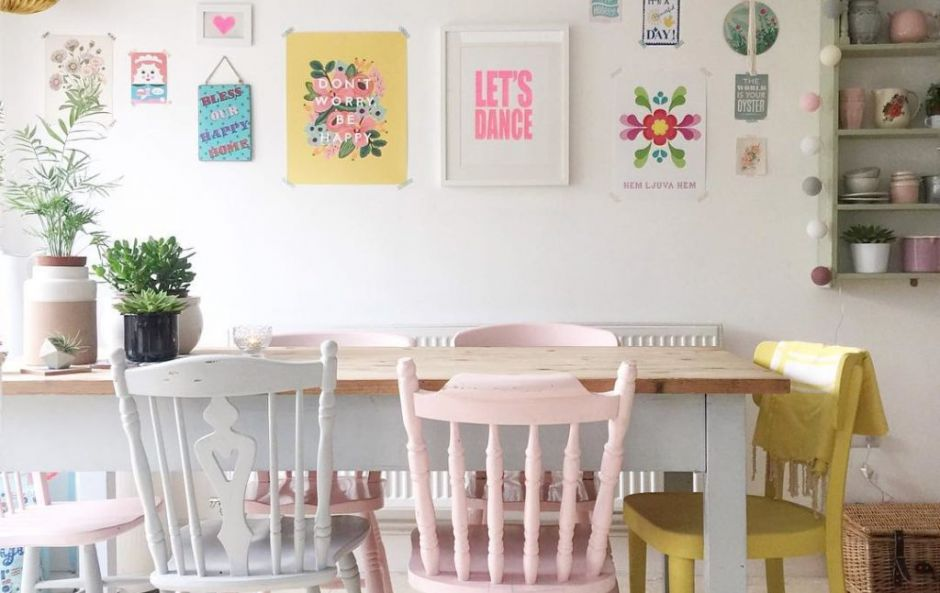 Instagram Inspiration: Shop the look - a cute, pastel dining room