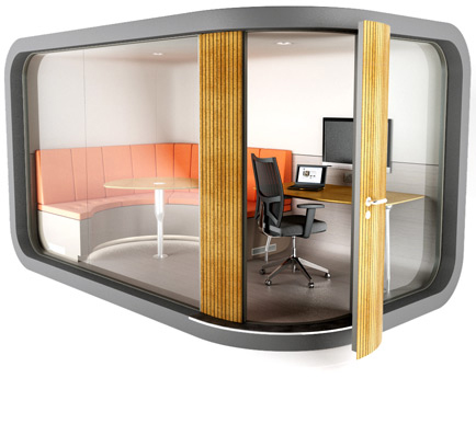 Office pod view