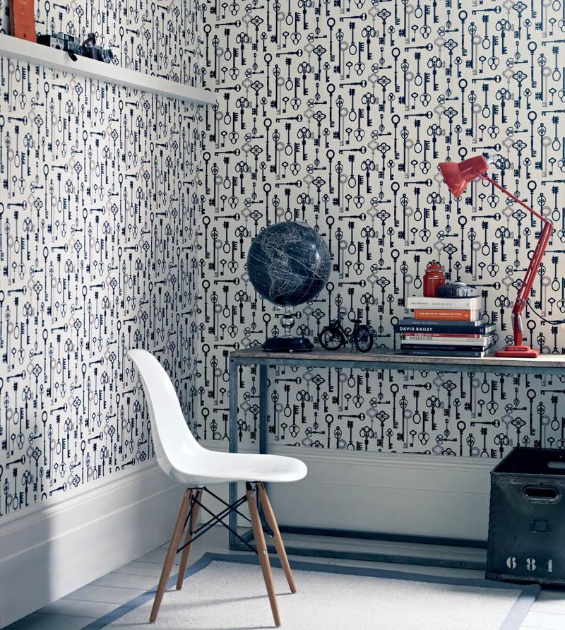 hammam wallpaper, fired earth