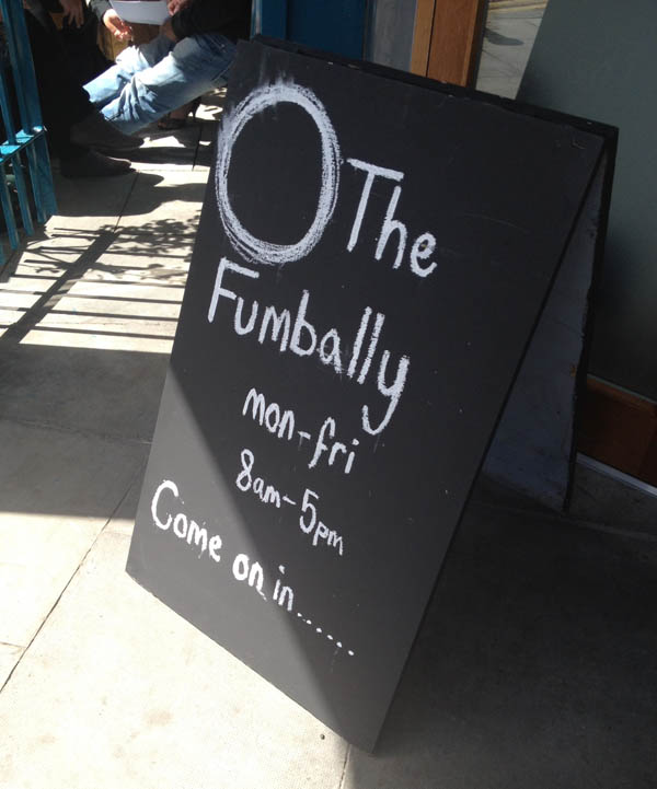 The Fumbally - sign