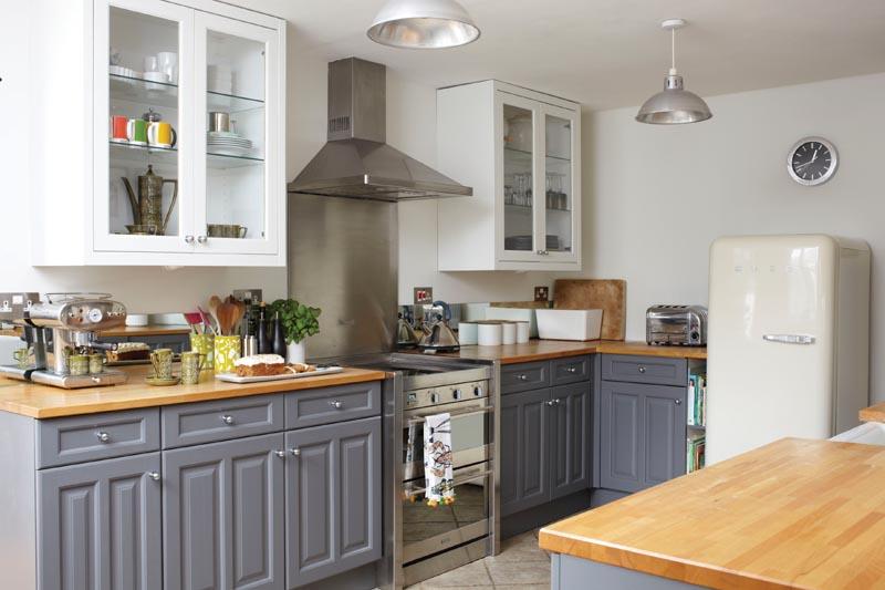 a Modern shaker kitchen