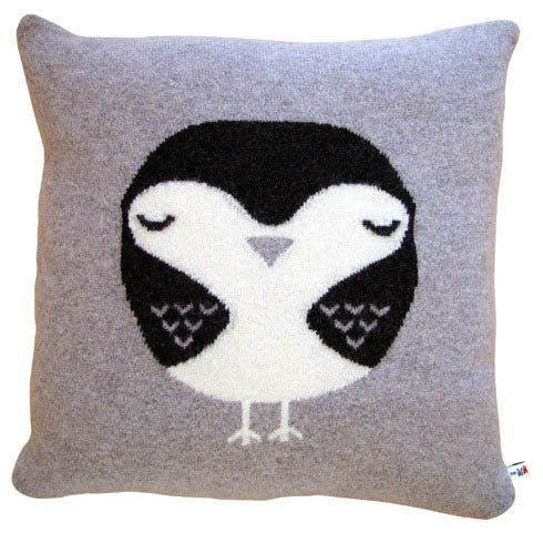 robin grey cushion by Donna Wilson