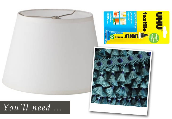lampshade makeover - what you'll need
