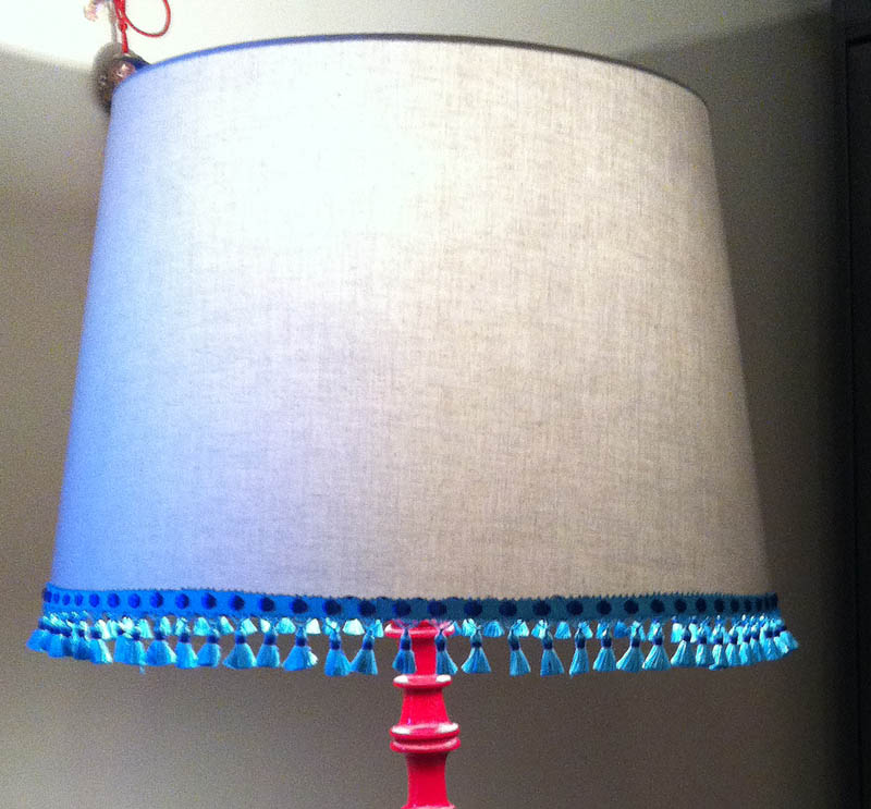 Lampshade makeover - the finished look