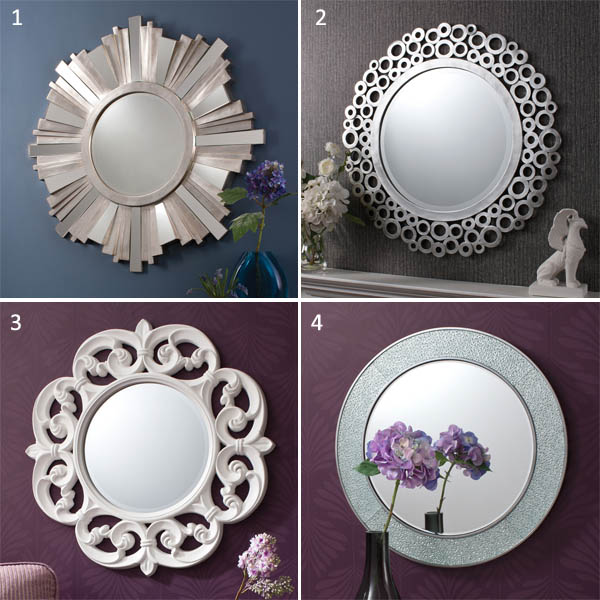 Circular mirrors from Pickit store Absolute Essentials