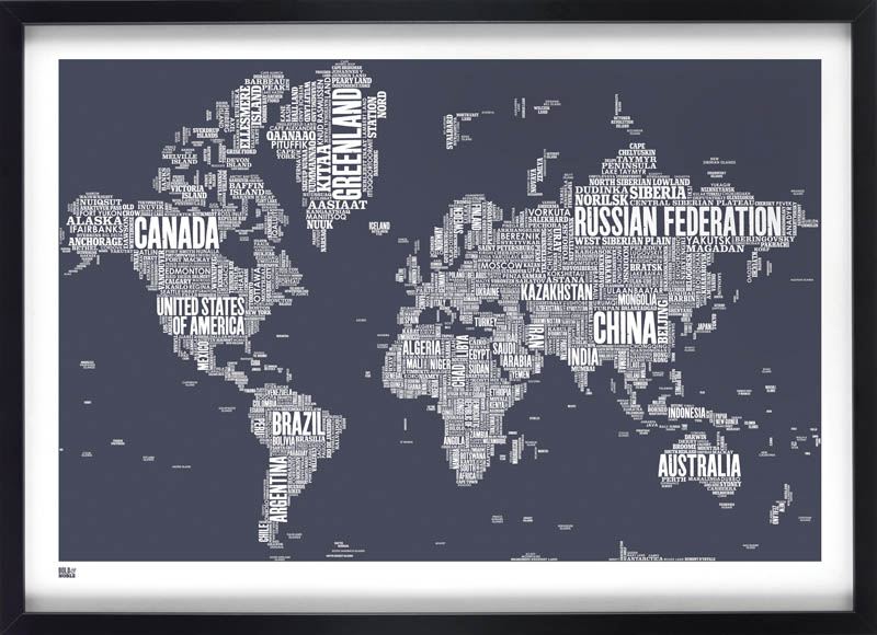 World type map, €85, Industry
