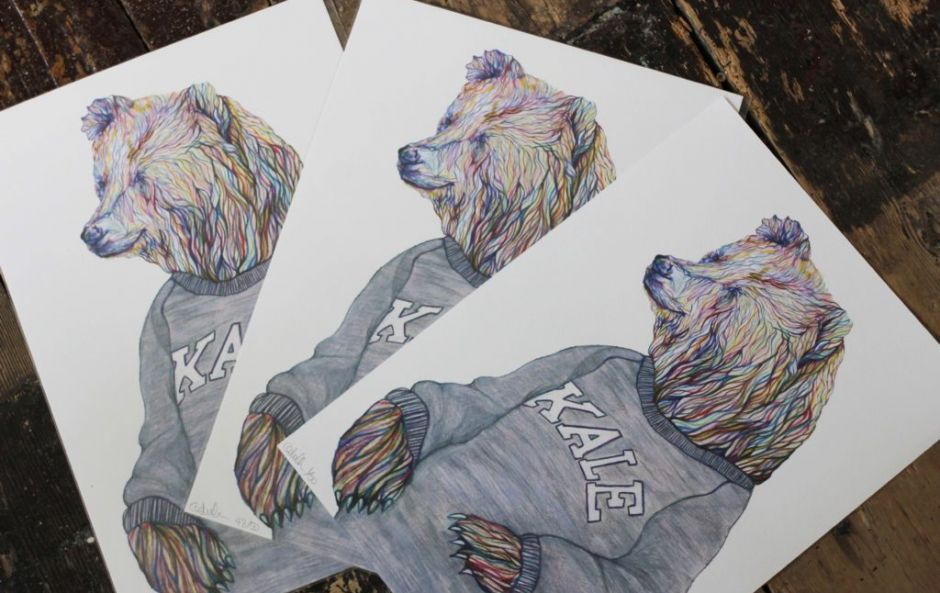 WIN! €50 April and the Bear voucher and exclusive print to celebrate Lennox St pop-up