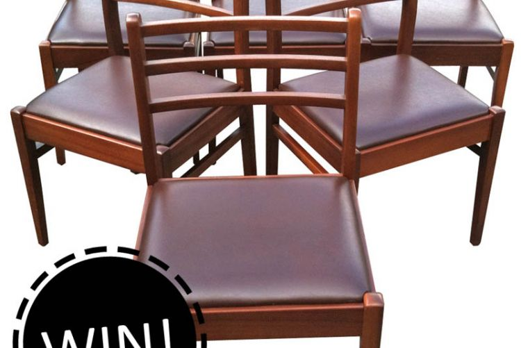 WIN! A set of 6 1960s G-Plan dining chairs worth over €300!