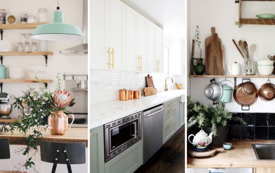 Get the look: mint and copper kitchen accessories