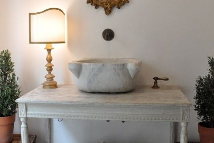 Create an unusual sink vanity