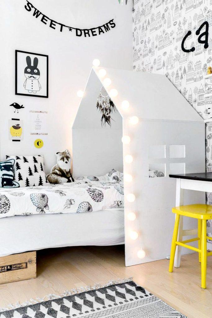 Kids Wallpaper Designs Black And White Room