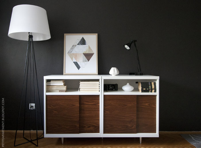 Make the mid century modern trend affordable try an ikea for Besta sideboard