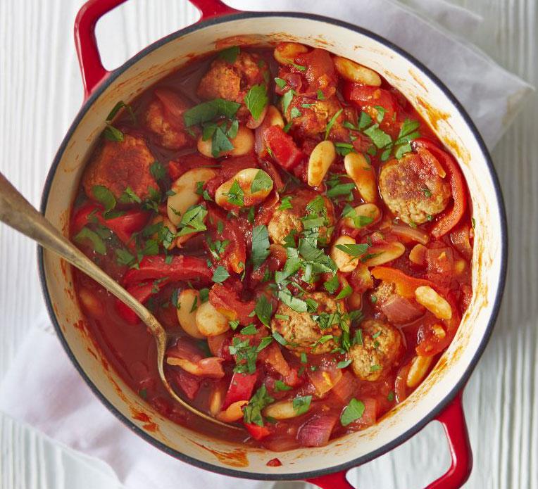 spanish-meatball-butter-bean-stew