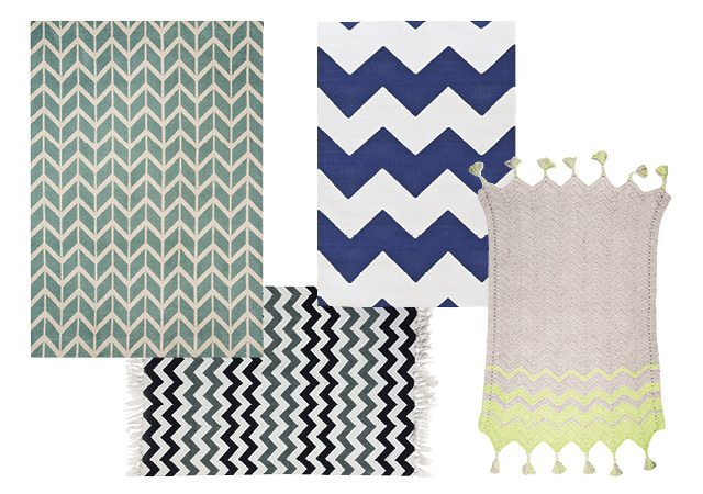 Mint Chevron Rug 78 Theruger Co Uk