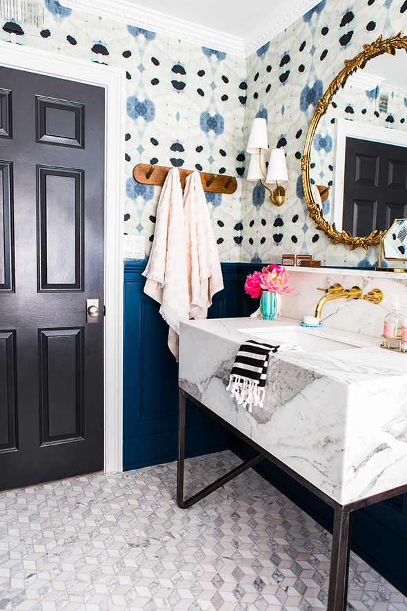 pattern-filled bathrooms