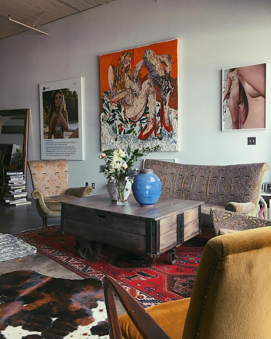 inside emily ratajkowski's beautiful, eclectic art-filled la loft