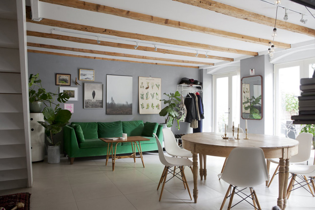 Superb Laid Back Apartment Sweden Scandi Interiors Dark Green Photo Gallery