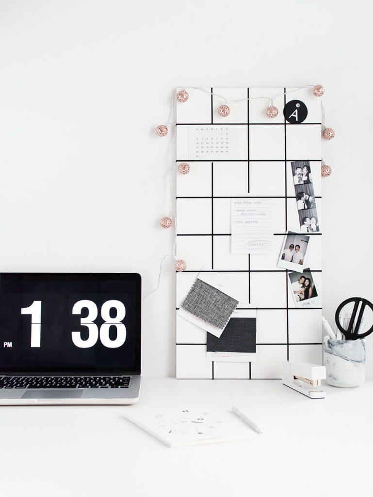 easy desk DIYs home office desk accessories