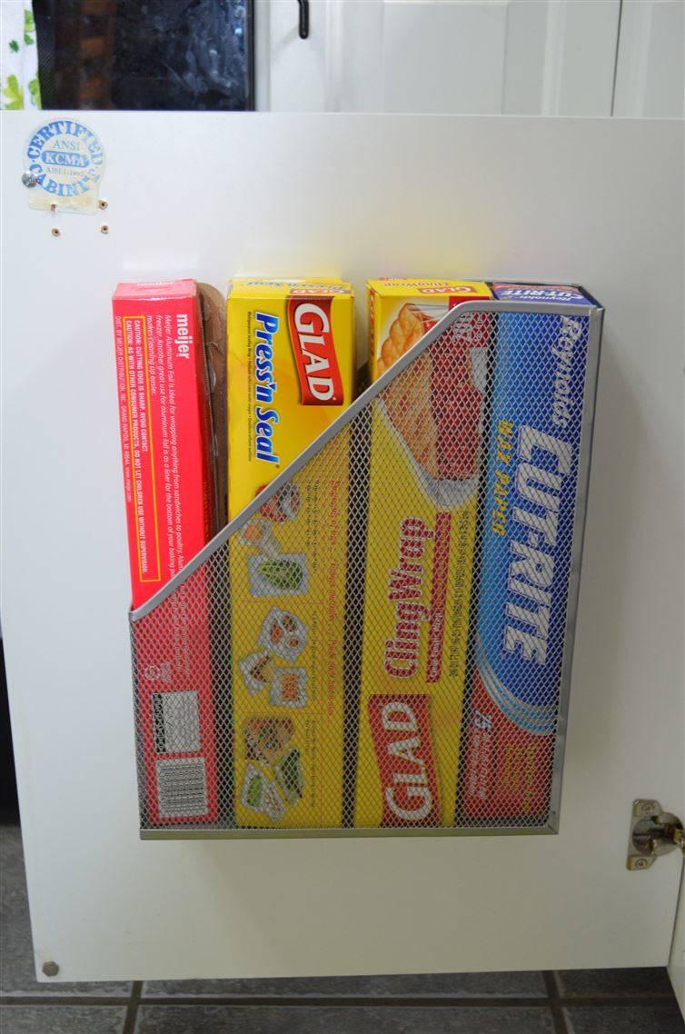 magazine racks for organising cupboards