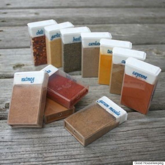 home hack for spices; tic tac boxes