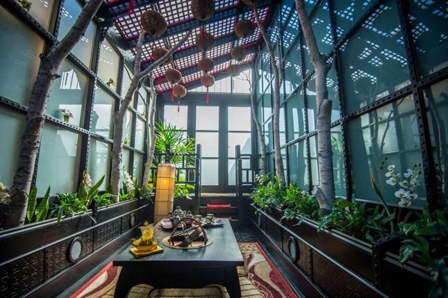 Japenese style futuristic conservatory