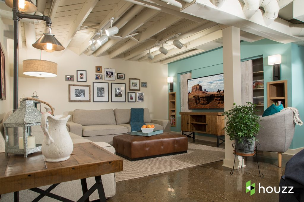 basement makeover, interior design transformation, kristen bell sister