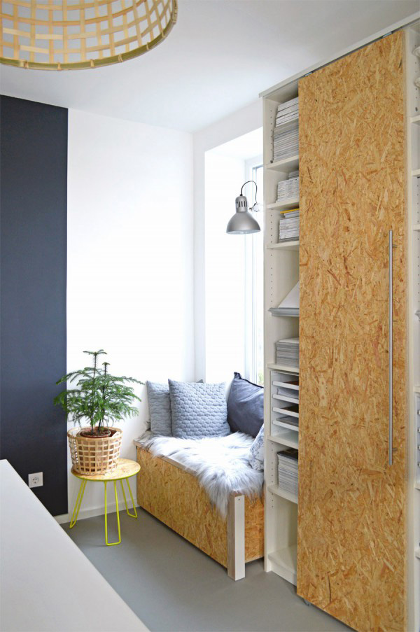 BILLY bookcase hack sliding doors