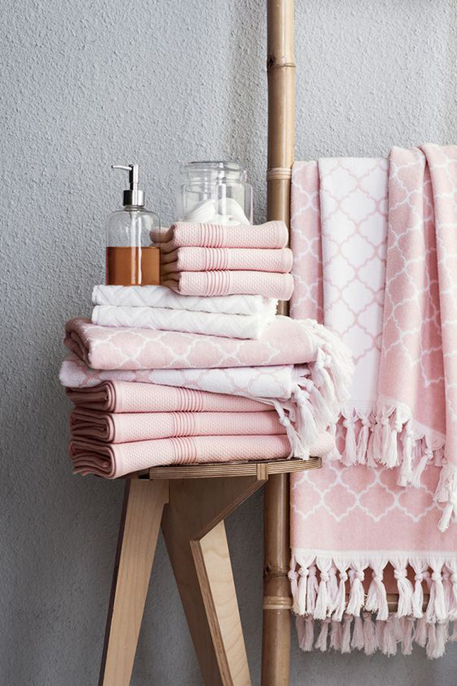 7 ways to make your home look like it was styled by an for Pink and gold bathroom accessories