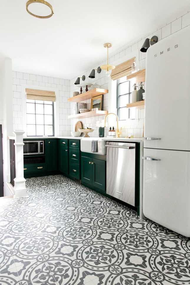 11 Patterned Kitchen Floors That Got It So Right