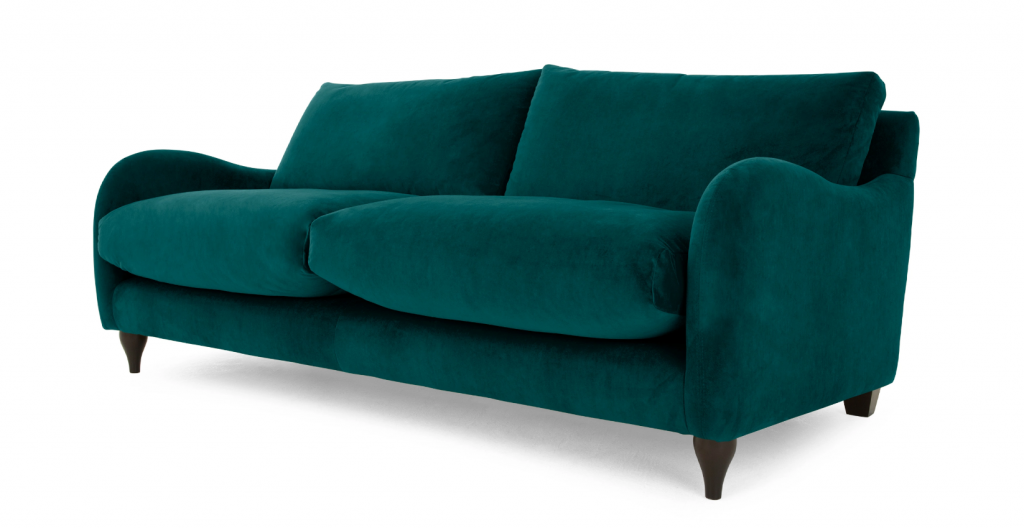 With A Hue To Suit Even The Pickiest Purchaser, The Opulent Sofia Velvet  Sofa Is Ideal For Kicking Back On. Upholstered With Big Plump Cushions, ...