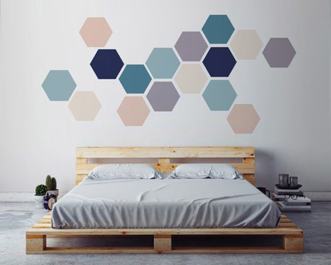 Geometric wall stickers from Etsy.com