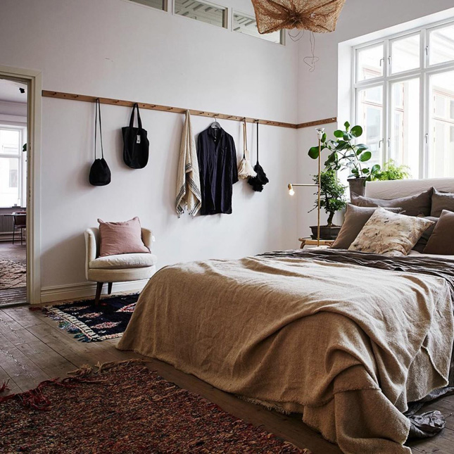 have incorporated some very clever storage into their bedroom
