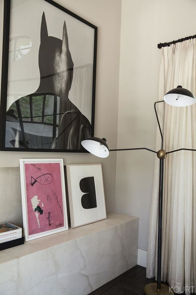 art for home office. Her Office Is Filled With Tons Of Artworks, And Some Favourites Are In The Above Photo. Batman Image A Gelatin Silver Print By Herb Ritts Art For Home T