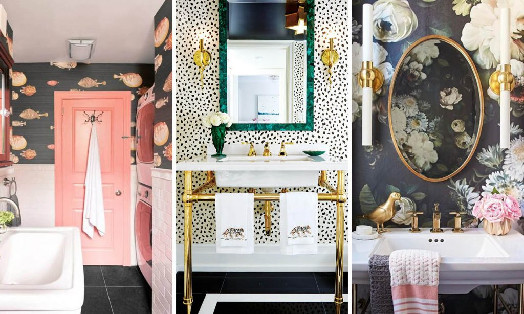 Wallpaper For Bathroom | 17 Times That Wallpaper In A Bathroom Stole The Show Houseandhome Ie