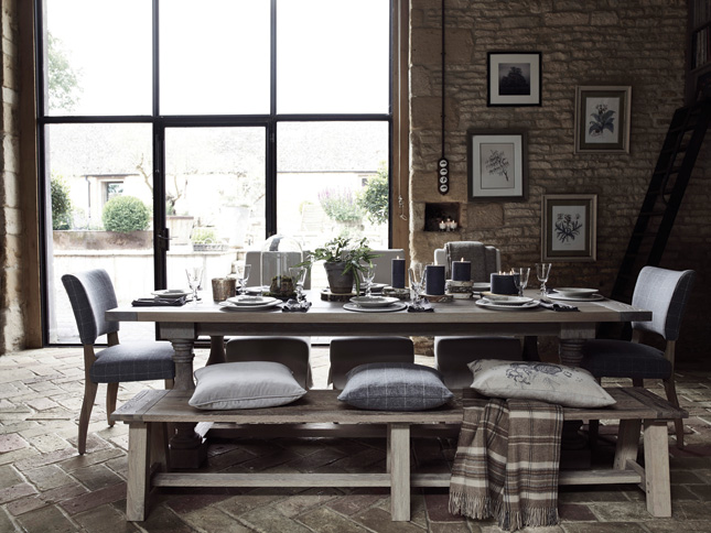 We Love The Use Of Natural Materials In This Dining Space From Large Windows Which Allow For Ample Light To Fill Room Concrete