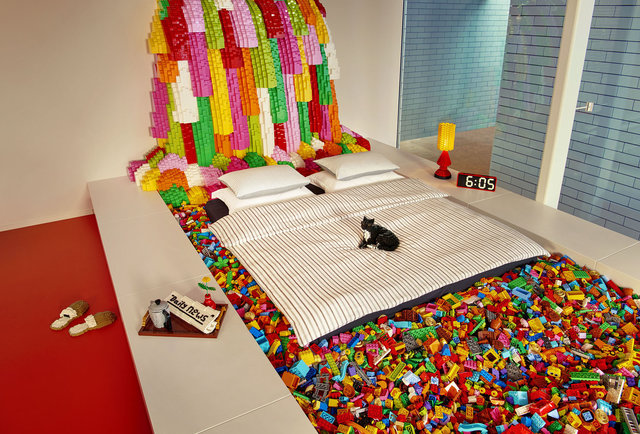 real life lego house