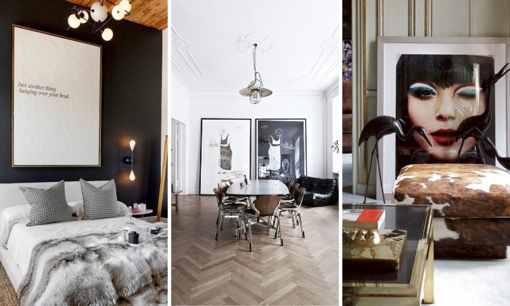 7 Brilliant Times Oversized Art Really Modernised A Room