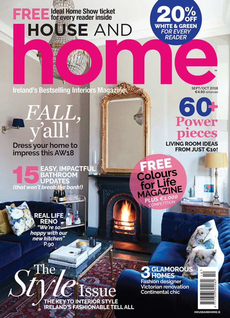House and Home magazine cover, sept/oct issue, 2018