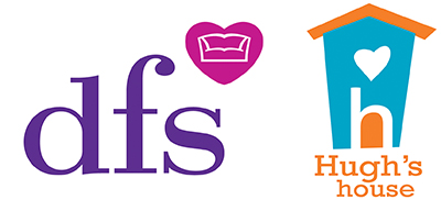 DFS and Hugh's House logos