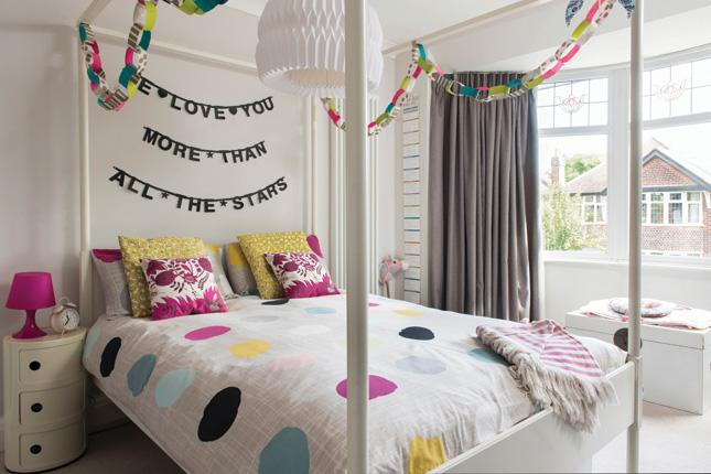 renovated family home children's bedroom girl