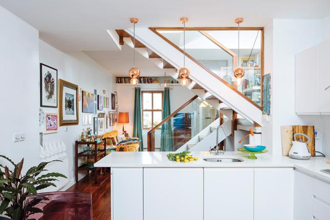 Dublin terraced home stoneybatter colourful modern