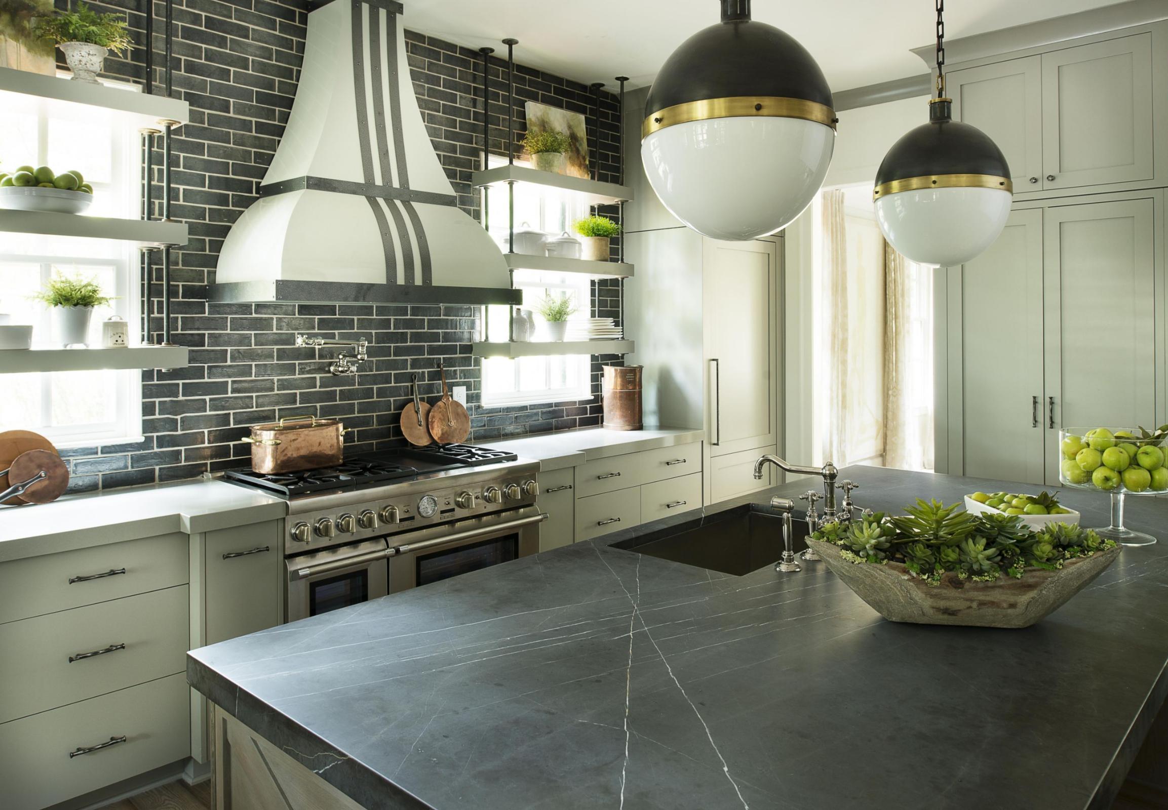 pietra dark kitchen